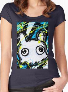 Little White Monster Women's Fitted Scoop T-Shirt