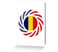 Chad American Multinational Patriot Flag Series Greeting Card