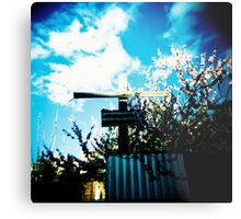 Cross and blossoms Metal Print
