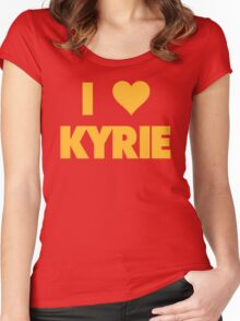 I LOVE KYRIE Irving Cleveland Cavaliers Basketball Women's Fitted Scoop T-Shirt
