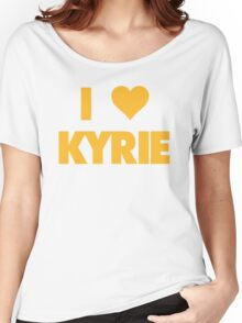 I LOVE KYRIE Irving Cleveland Cavaliers Basketball Women's Relaxed Fit T-Shirt
