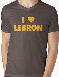 I LOVE LEBRON James Cleveland Cavaliers Basketball Mens V-Neck T-Shirt