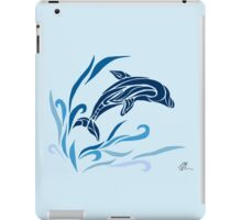 Leaping dolphin (colored) iPad Case/Skin