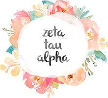 Zeta Tau Alpha Watercolors by SLEV