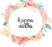 Kappa Delta Watercolors by SLEV
