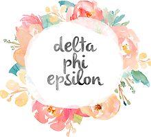 Delta Phi Epsilon Watercolors by SLEV