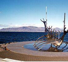 Viking ship, Reykjavik, Iceland by Margaret  Hyde