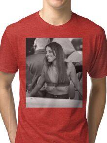 Aubrey Plaza - BW - 2 Tri-blend T-Shirt