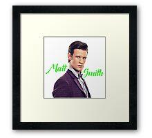 Matt Smith Framed Print