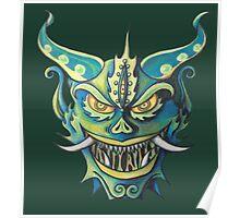 Oni Mask Evil Spirit Poster