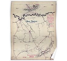 Civil War Maps 1122 Middle Tennessee Poster