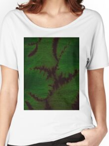 Marbled Spineless Acacia Leaves  Women's Relaxed Fit T-Shirt