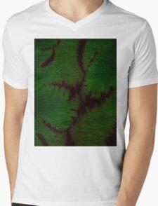 Marbled Spineless Acacia Leaves  Mens V-Neck T-Shirt