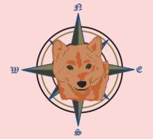 Shiba Inu - Doge Compass One Piece - Long Sleeve