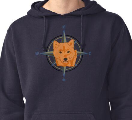 Shiba Inu - Doge Compass Pullover Hoodie