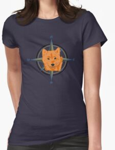 Shiba Inu - Doge Compass Womens Fitted T-Shirt