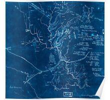 Civil War Maps 0380 First Manassas Inverted Poster