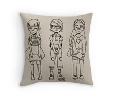 Art Squad Throw Pillow