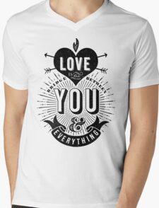 Love Is The Bridge Mens V-Neck T-Shirt