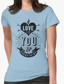 Love Is The Bridge Womens Fitted T-Shirt