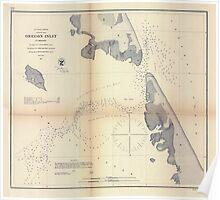Civil War Maps 1227 Oregon Inlet N Carolina Poster