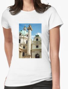Karlskirche, Vienna, Austria (2) Womens Fitted T-Shirt