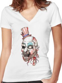 Captain Zombie Women's Fitted V-Neck T-Shirt