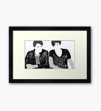Dan & Phil | Grey & Grey Framed Print