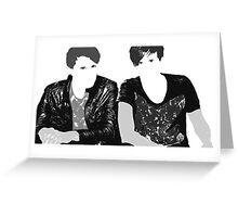 Dan & Phil   Grey & Grey Greeting Card