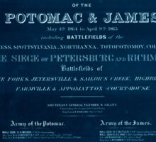 Civil War Maps 1156 Military maps illustrating the operations of the armies of the Potomac James May 4th 1864 to April 9th 1865 Inverted Sticker