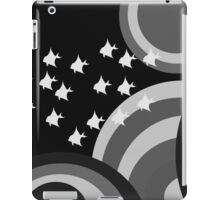 Psychedelic monochrome fish iPad Case/Skin
