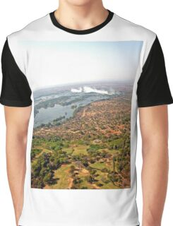 Aerial of Victoria Falls, Africa Graphic T-Shirt