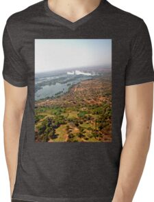 Aerial of Victoria Falls, Africa Mens V-Neck T-Shirt