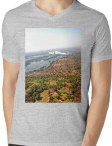 Aerial of Victoria Falls, Africa Mens V-Neck T-Shirt