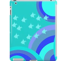 Psychedelic baby blue fish iPad Case/Skin