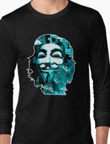 Anonymous Che Guevarra Blue Long Sleeve T-Shirt