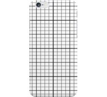 Grid - Black and White Simple Lines Duvet Cover Bedspread iPhone Case/Skin