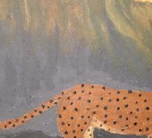 A Leopards Looking Glass Sticker