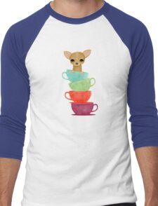 Dog in a Tea cup Men's Baseball ¾ T-Shirt