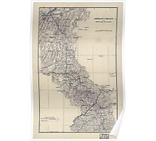 Civil War Maps 1586 Sherman's campaign from Chattanooga to Atlanta 1864 Poster