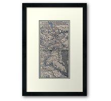 Civil War Maps 1908 War maps and diagrams Framed Print