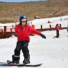 Gabe Snowboarding at Afriski, Lesotho by Tim Cowley