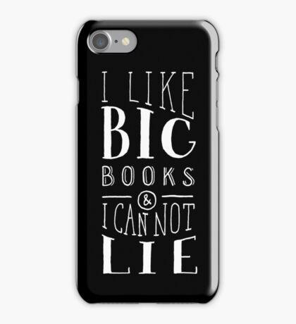 I Like Big Books (Black) iPhone Case/Skin