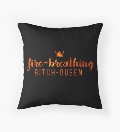 Bitch-Queen. Throw Pillow