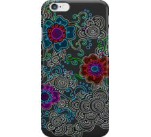 Flowers and Circles iPhone Case/Skin