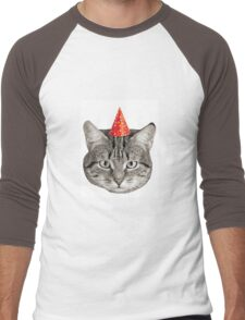 Birthday Cat! Men's Baseball ¾ T-Shirt