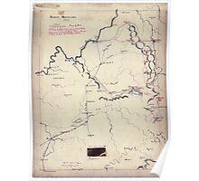 Civil War Maps 0023 Across Kentucky Poster