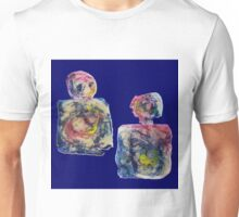 Feeling Blue - Mixed Media Abstract  Art 2 Unisex T-Shirt