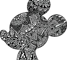 Mouse Zentangle by ehoehenr