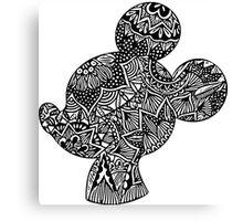 Mouse Zentangle Canvas Print